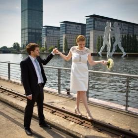 Hochzeit Spree Berlin Shooting Porträt Friedrichshain