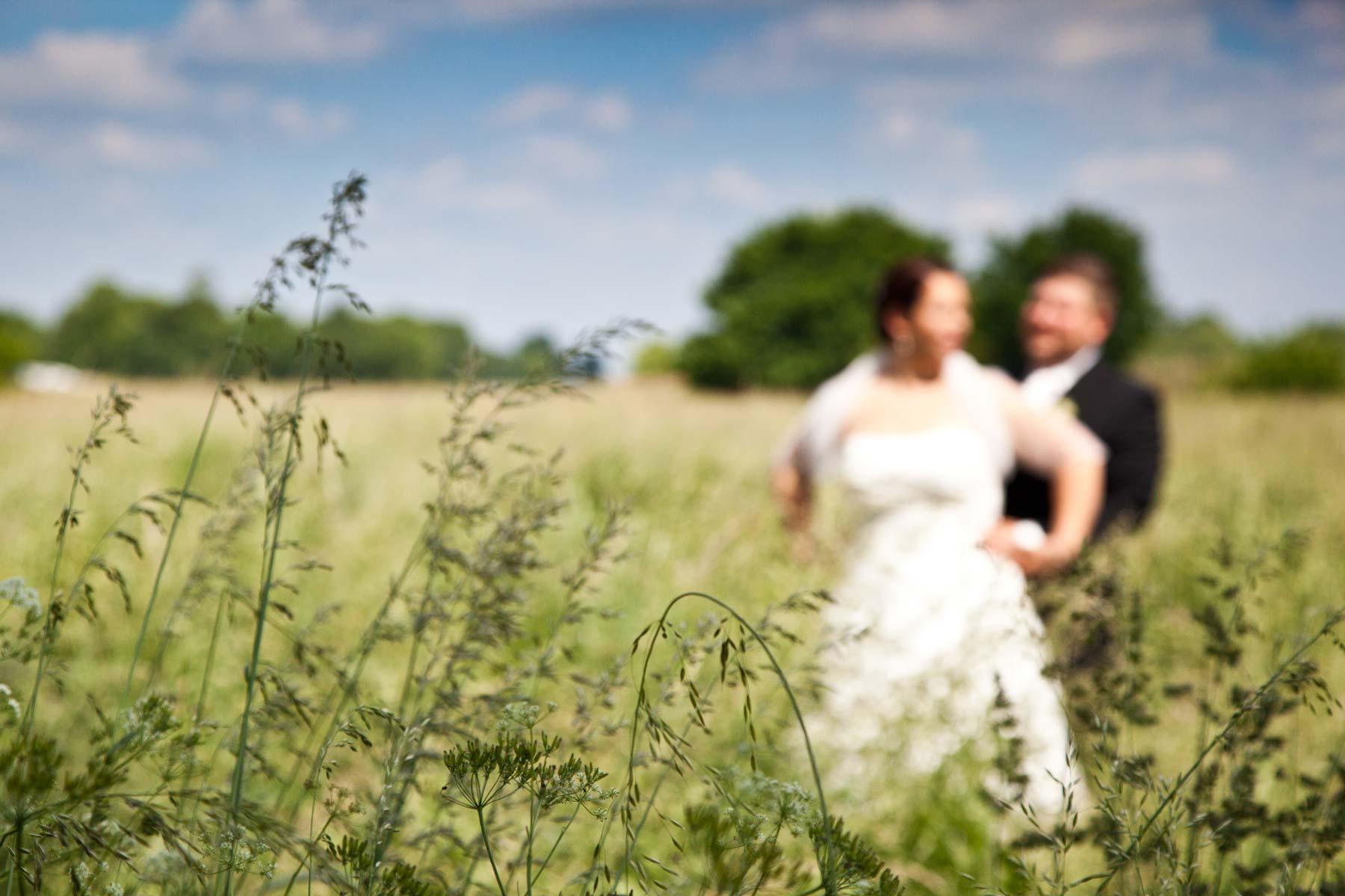 Hochzeitsporträts Feld Natur