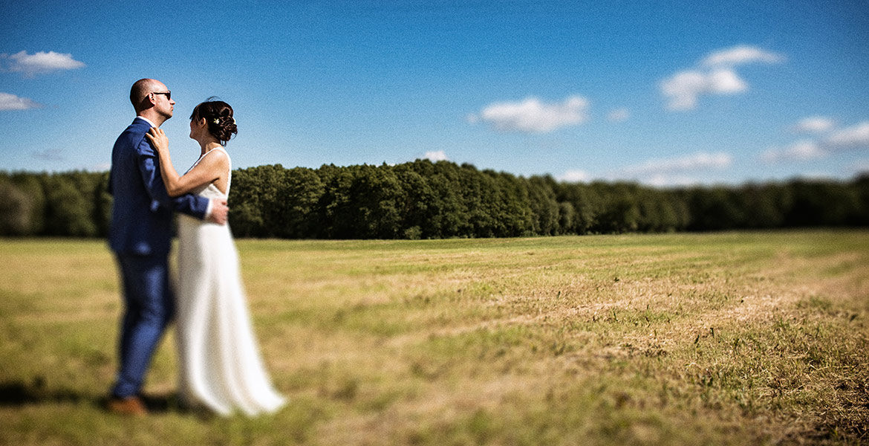 Hochzeitsfoto kunstvoll Tilt-Shift