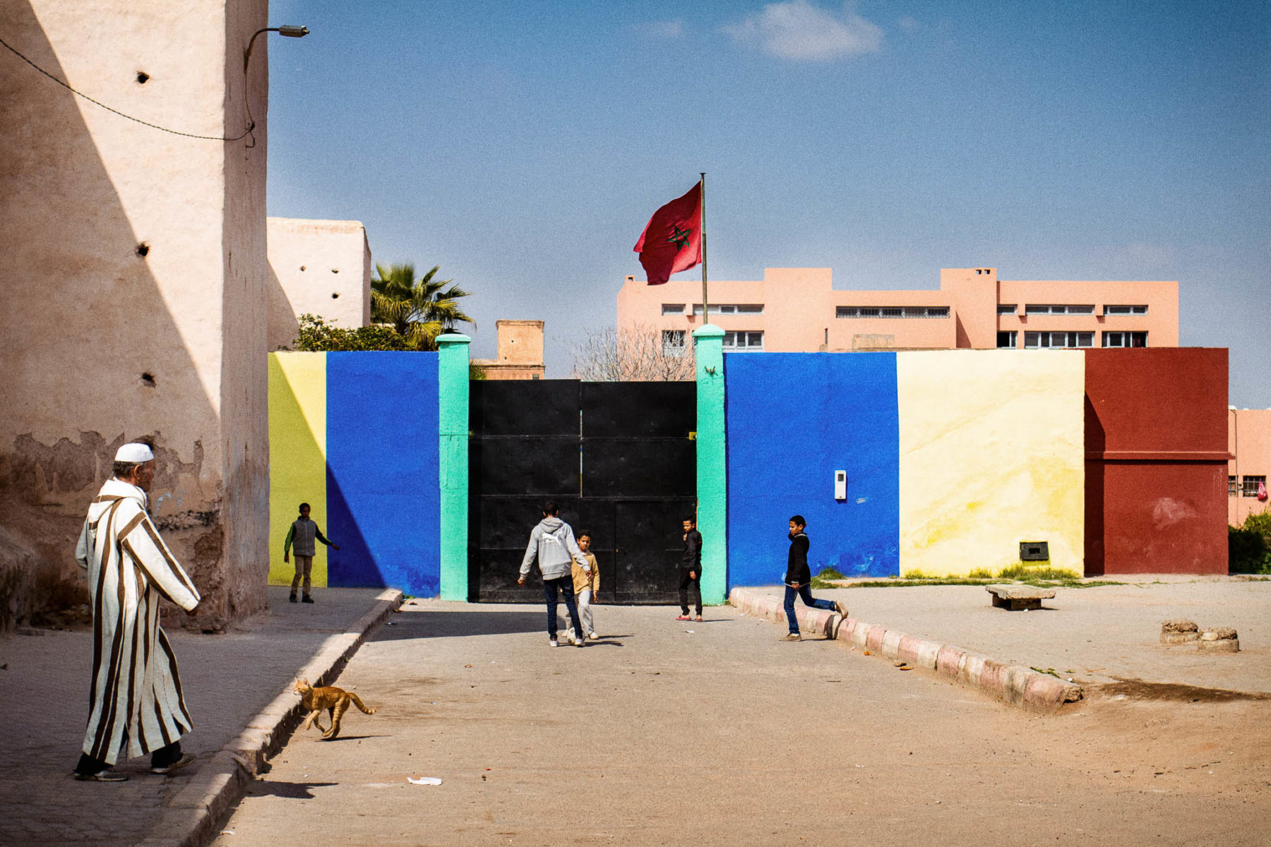 Morocco - Marrakech street scene outside the Bab Doukala - street photography - Mike Bielski